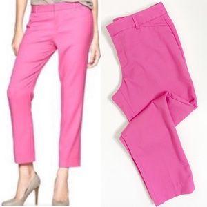 GAP Slim Cropped Pink Trouser Dress Pants Stretch
